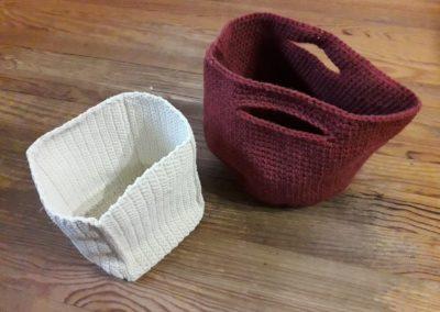 Paniers crochetés